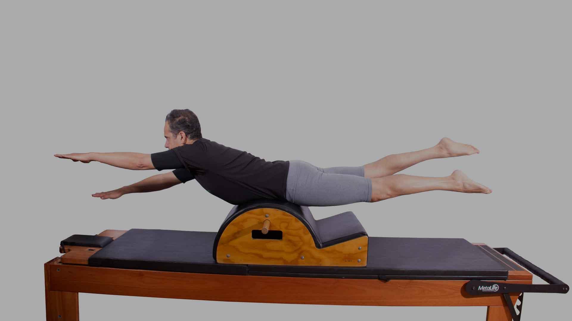 Exercício de pilates acessórios