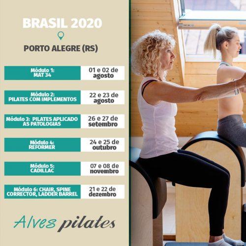 Datas de curso de pilates em Porto Alegre