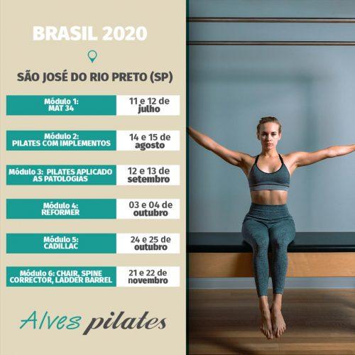 Formação curso pilates São José do Rio Preto e curso pilates Catanduva